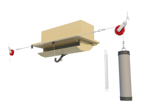 Ventilation ceiling inlet 120-P assembly - TPI-Polytechniek