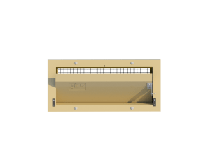 Ventilation pig and poultry house side wall inlet 135-FR front view