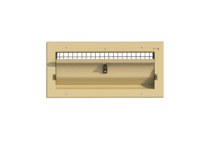 Ventilation pig and poultry house side wall inlet 145-VFG-C front view
