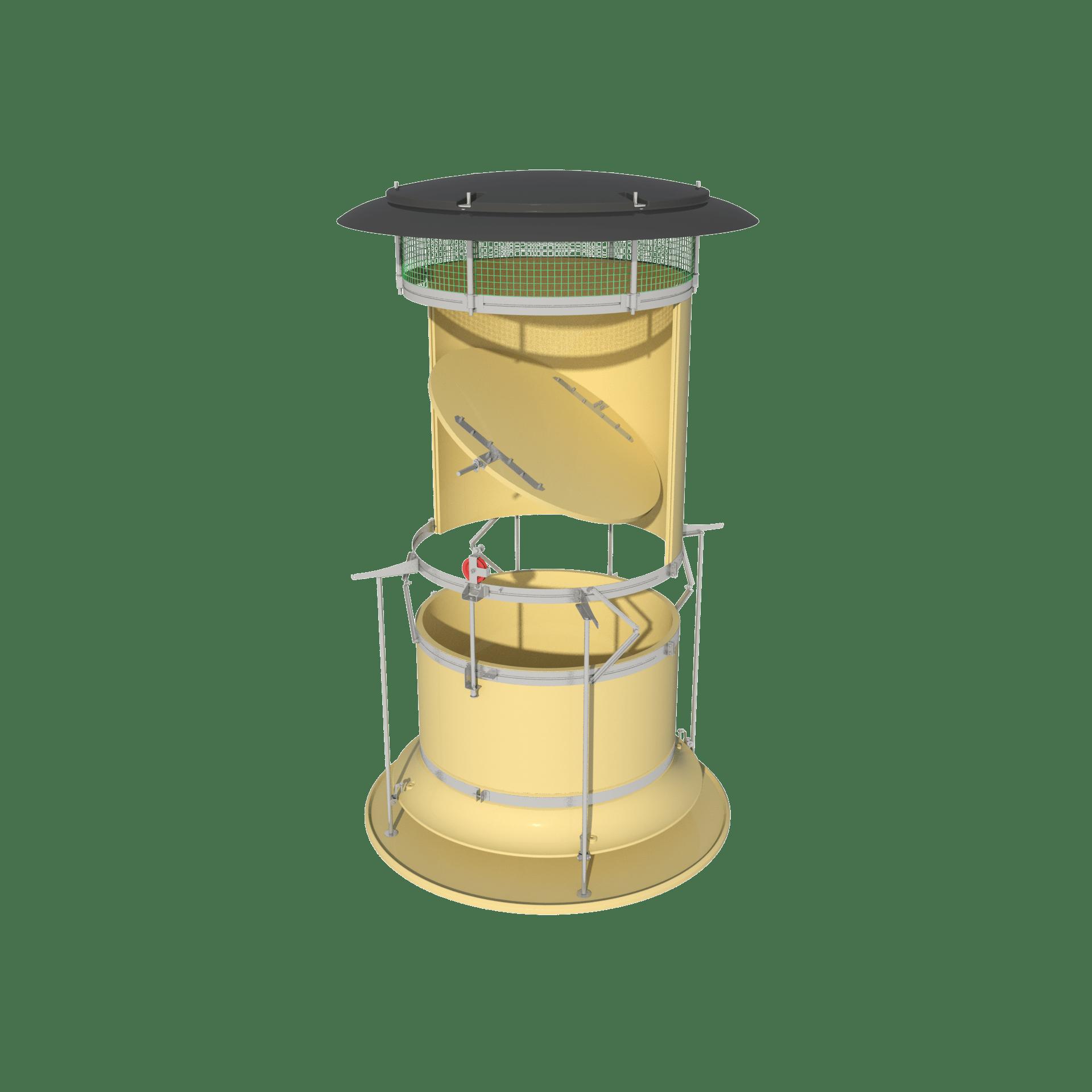 Automatic Recirculation Chimney Dynamic - ARC-D - Yellow