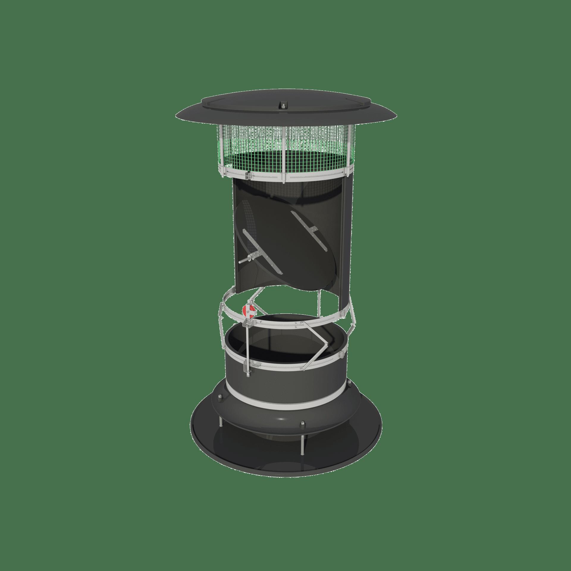 automatic recirculation chimney - ARC-F - Black